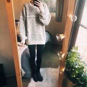 Vintage Cotton Chunky Sweater Grunge Thick Boho